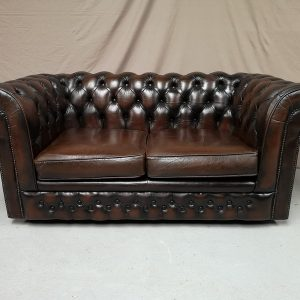 Canapé chesterfield marron
