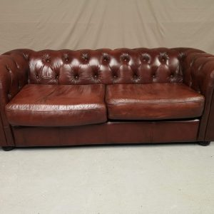 Canapé chesterfield cuir marron brun