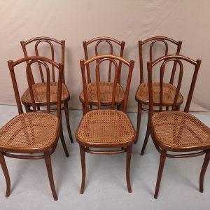Série de six chaises Thonet