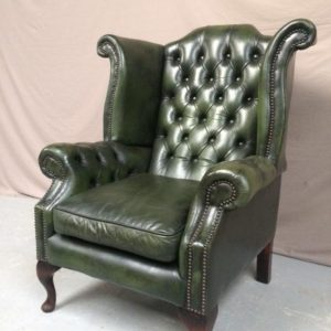 Fauteuil chesterfield wing chair vert