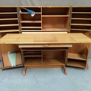 Bureau box chêne vintage