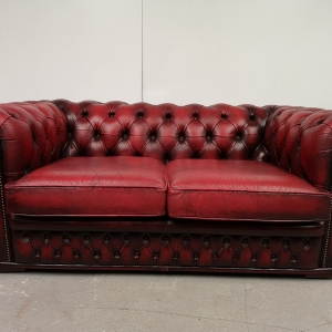 Canapé chesterfield cuir rouge
