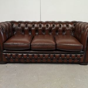 Canapé chesterfield cuir marron