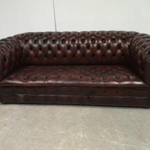 Canapé chesterfield cuir marron