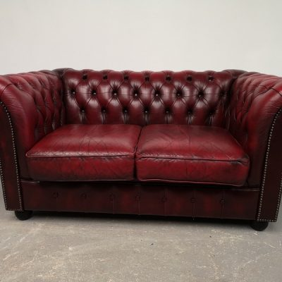CANAPE CHESTERFIELD CUIR DEUX PLACES