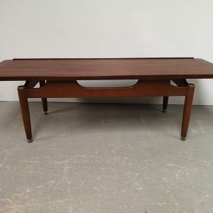 Table basse design teck